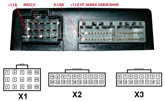 Блок комфорта приора схема 396